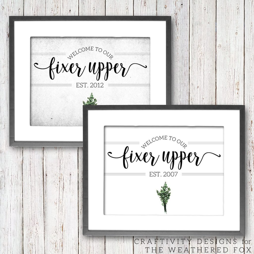 image about Printable Farmhouse Signs identified as Welcome towards Our Fixer Higher (No cost Printable) - The Weathered Fox
