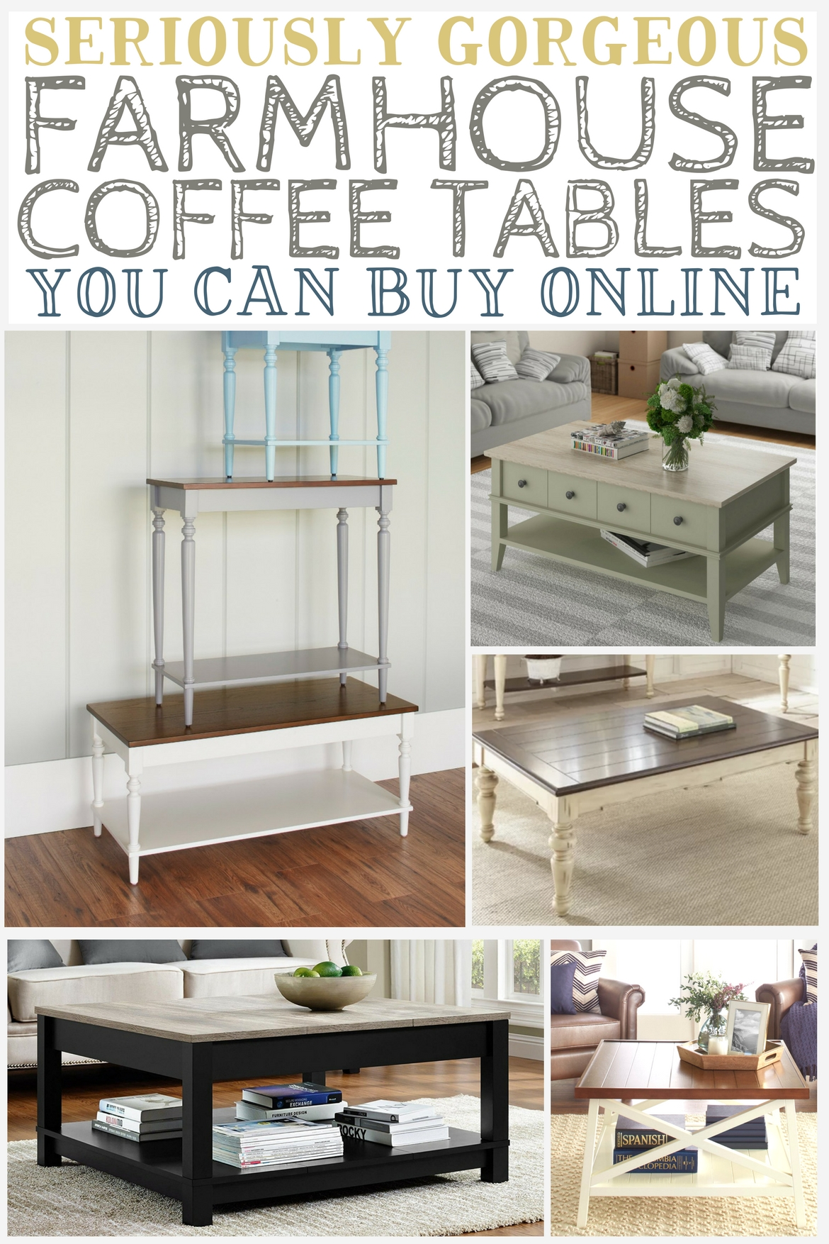 Seriously Gorgeous Farmhouse Coffee Tables You Can Buy Online   The  Weathered Fox