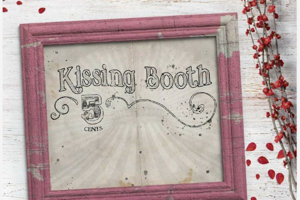 vintage kissing booth printable