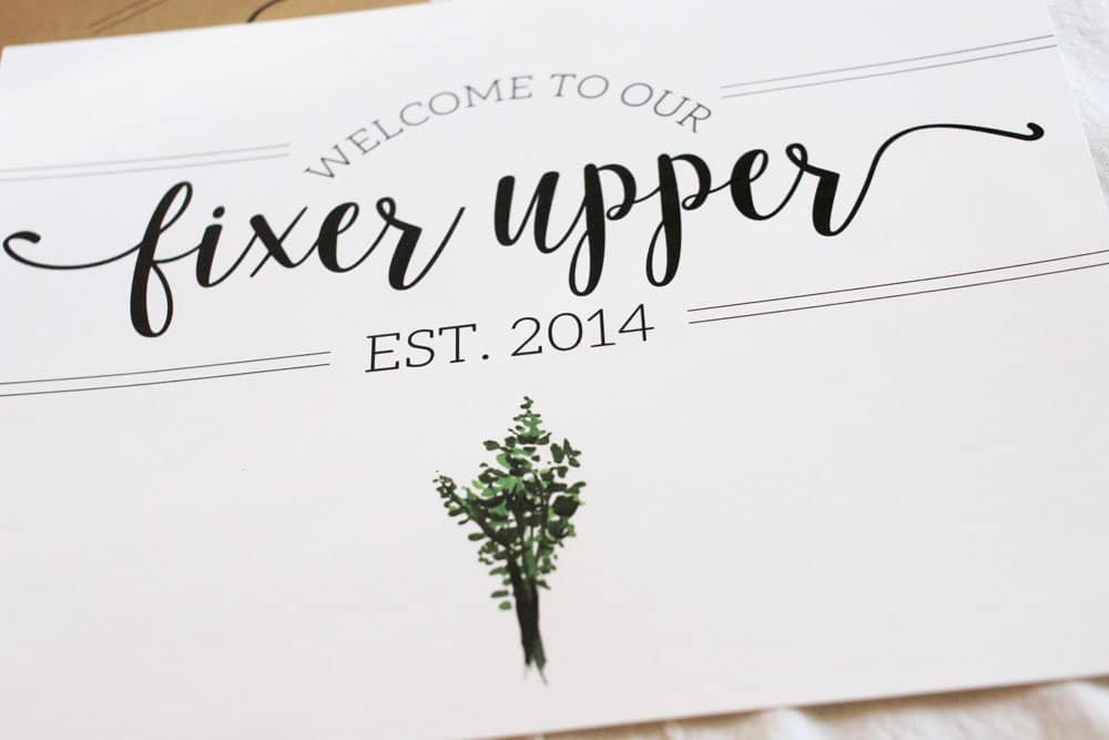 photograph relating to Printable Farmhouse Signs named Welcome toward Our Fixer Higher (Totally free Printable) - The Weathered Fox