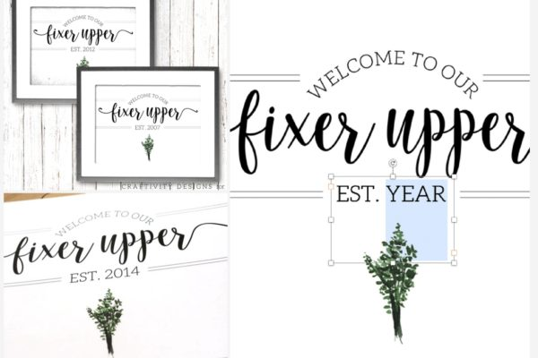 welcome to our fixer upper free printable
