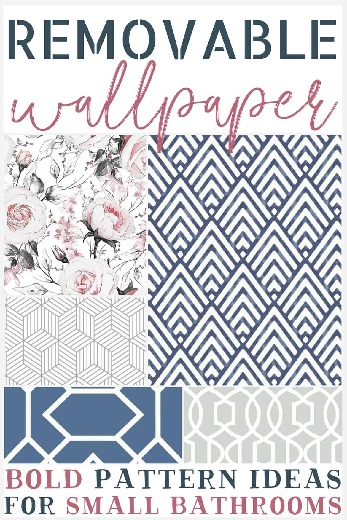 Bold Removable Wallpaper Patterns For Small Bathrooms The Weathered Fox