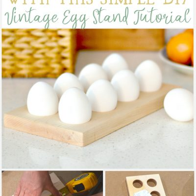 Add Farmhouse Style To Your Table With This Simple Vintage Egg Stand Tutorial