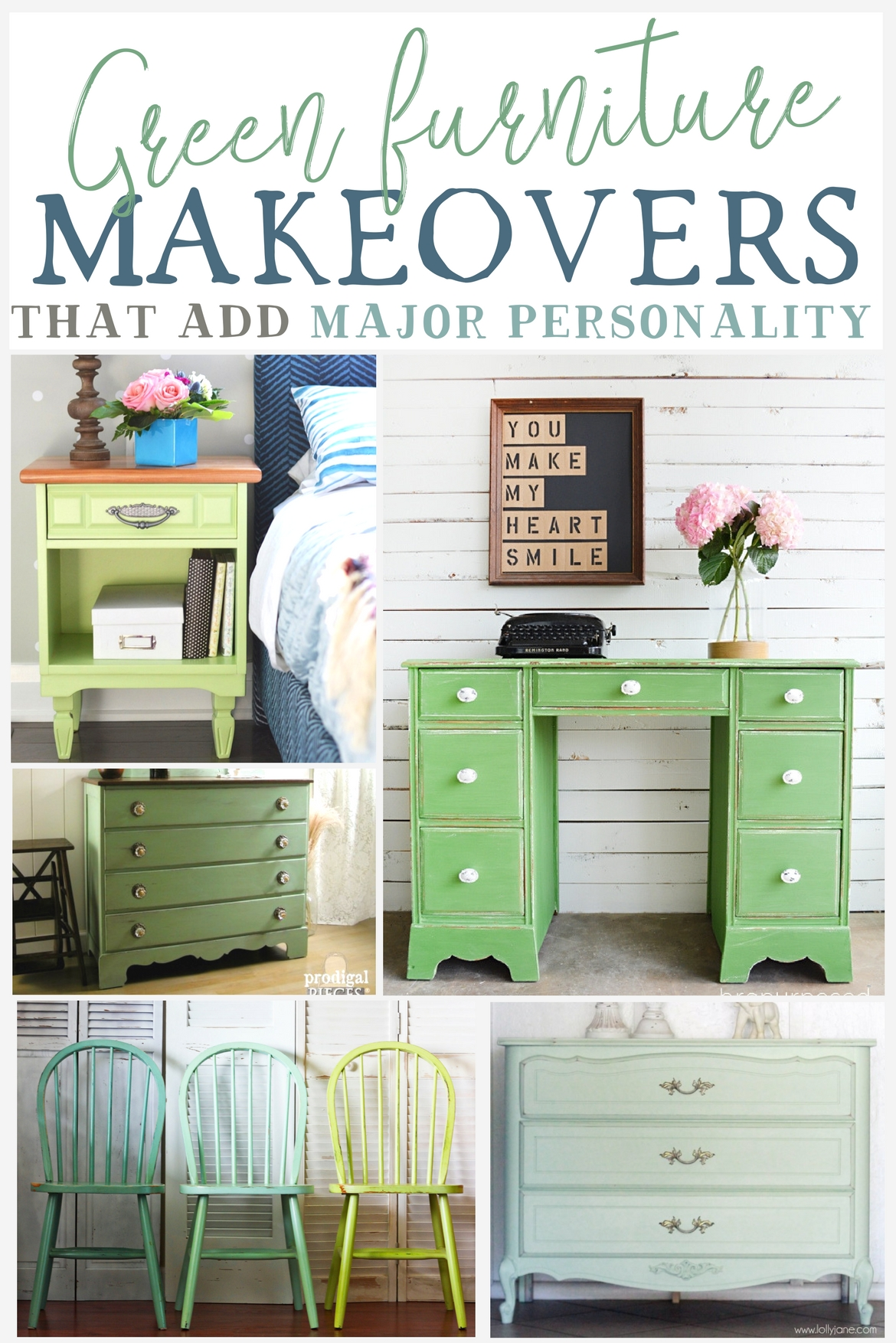 Green Furniture Makeovers That Add Major Personality The Weathered Fox
