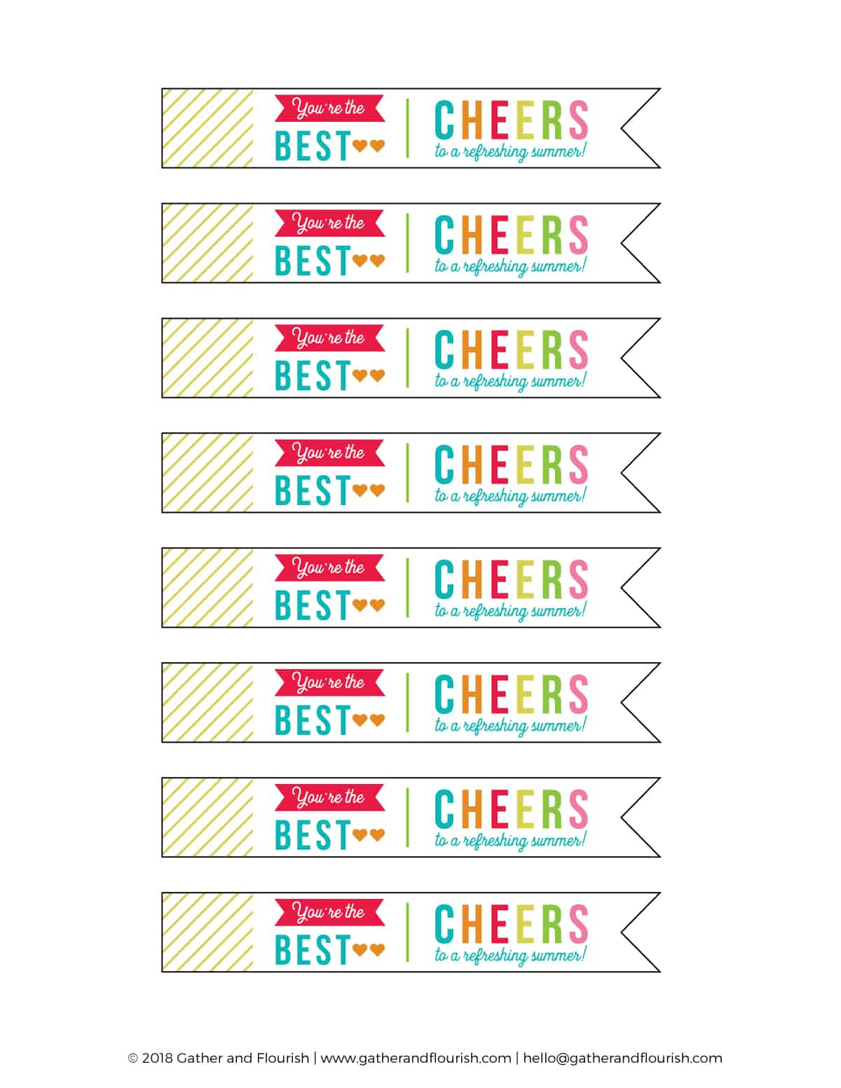 Teacher Appreciation Gift with FREE printable gift tags! End of the school year teacher gift idea! Free printable gift tag!