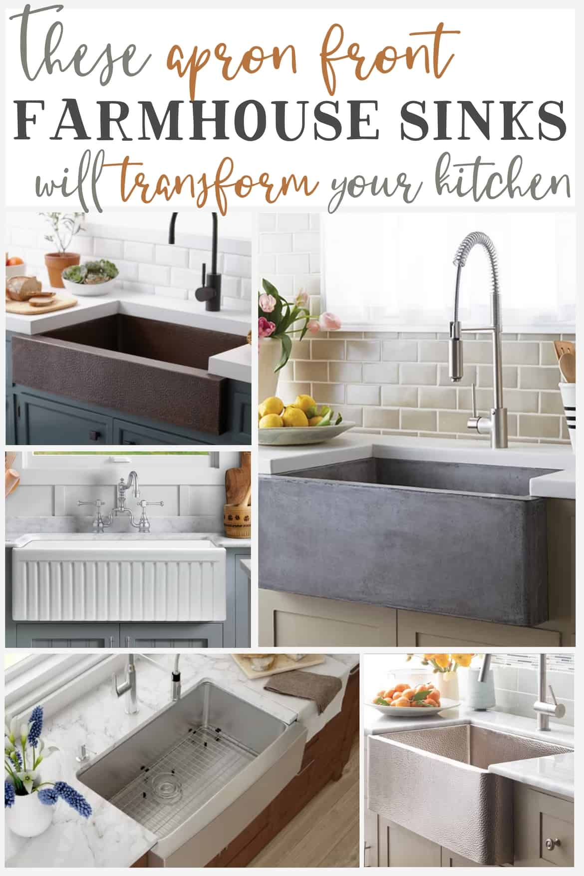 Apron front farmhouse sinks that will transform your kitchen the im lora of craftivity designs and when im creating our home i focus on function before style so before picking out the prettiest sink workwithnaturefo