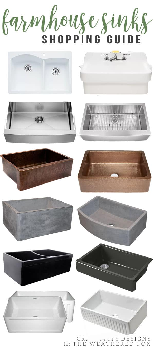Farmhouse Sinks Shopping Guide, Find the Perfect Farmhouse Sink for your Kitchen, Apron Sink