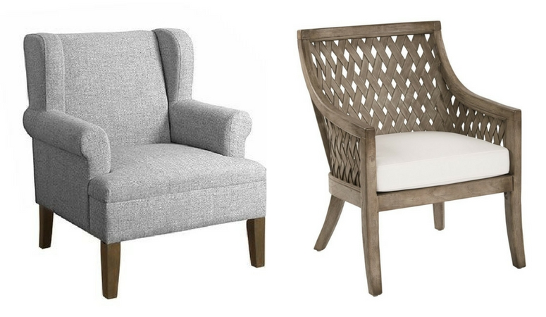 Elevate your living room style with a gorgeous farmhouse accent chair! I've gathered over 20 farmhouse living room chairs that will look fabulous whether your style is modern, french country or shabby chic! Check them out here!