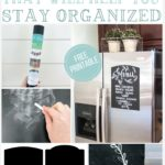 A (Free Printable) Fridge Chalkboard That Will Help You Stay Organized