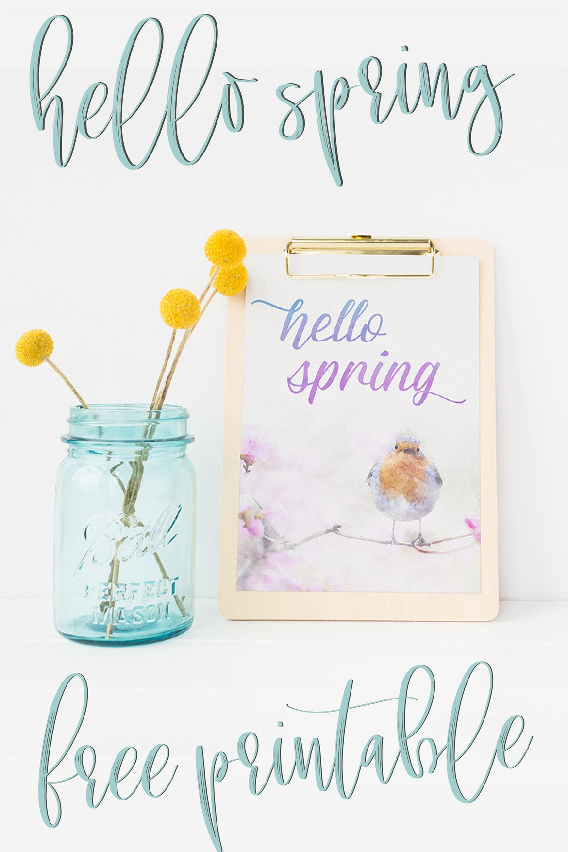 image relating to Watercolor Printable called Stunning (Cost-free!) Spring Artwork Watercolor Printable for By yourself!