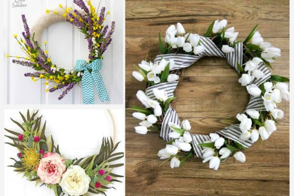 spring wreath diy ideas that are surprisingly easy to make