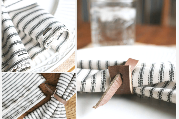 diy farmhouse cloth napkins