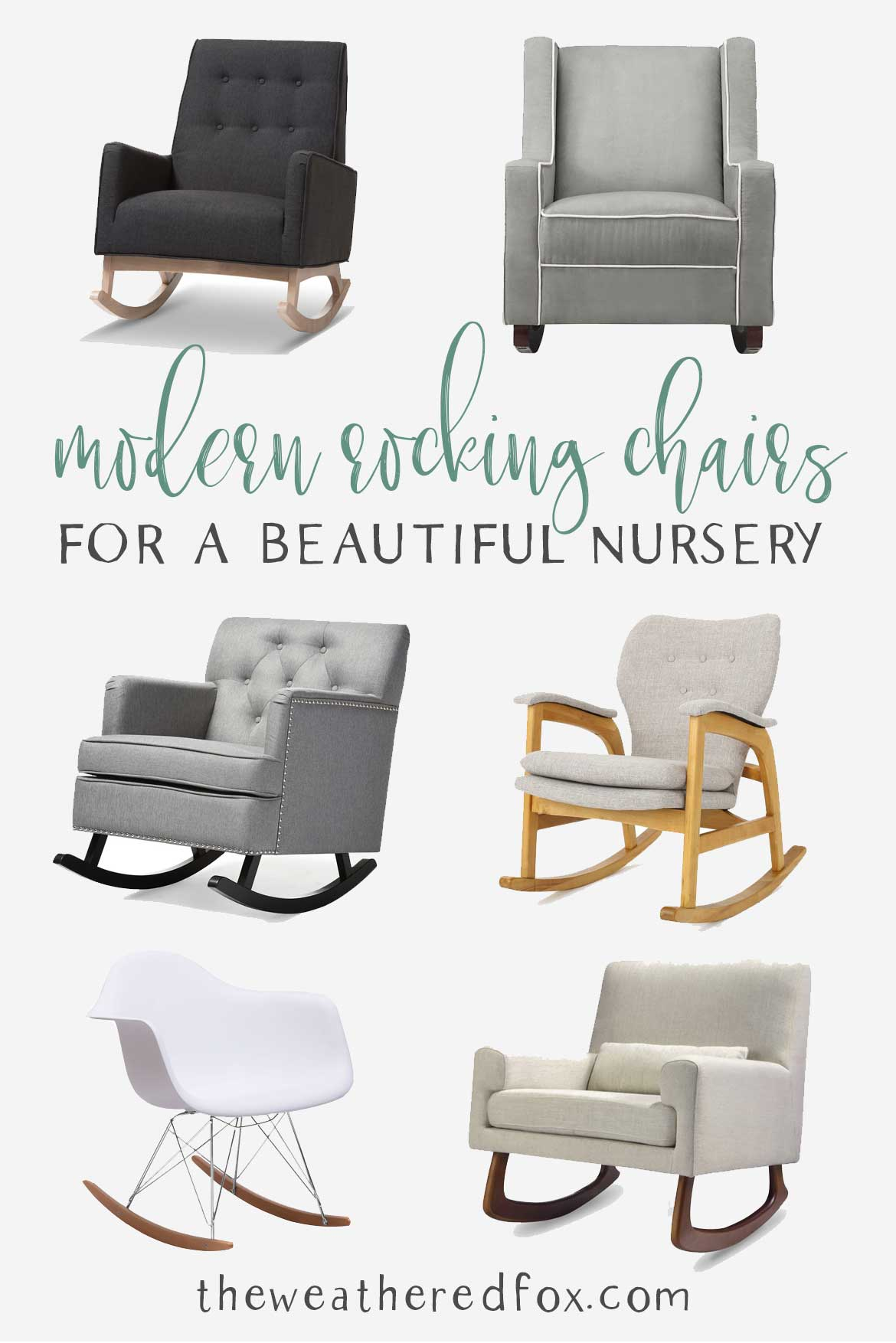 Modern Rocking Chairs for a Beautiful Nursery!